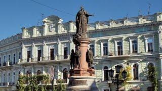 Достопримечательности Одессы. Памятник Екатерине II(Одна из наиболее важных архитектурных достопримечательностей города. Была названа Екатерининской, так..., 2015-11-10T22:03:55.000Z)