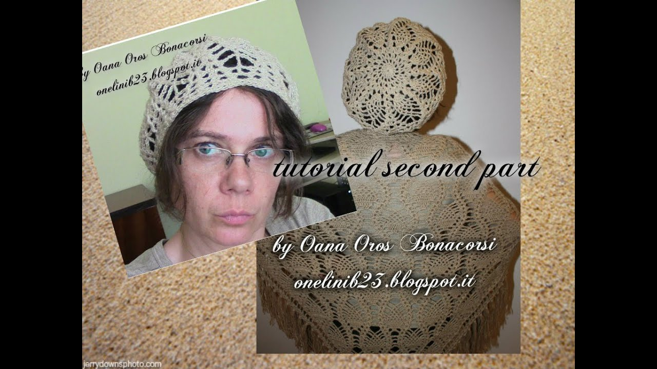 Crochet Stitches Youtube Channel : crochet pineapple stitch beret II - YouTube