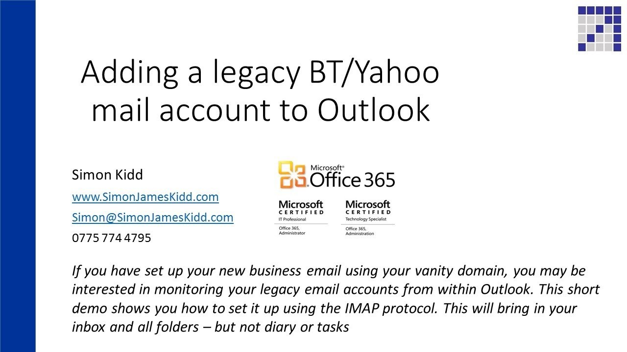 Set up your email account automatically