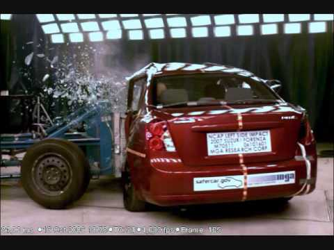 Crash Test 2007 - 2009 Chevrolet Optra / Suzuki Forenza / Buick Excelle /Lacetti (Side Impact) NHTSA