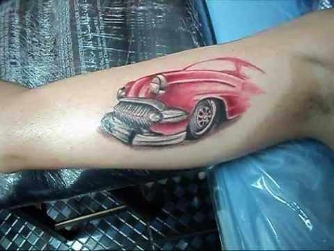 1955 Chevy Truck >> Diovany Tattoo Chevy 57. - YouTube