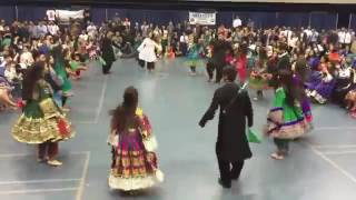 ATTAN - Afghan Students amazing Attan in America Afghan Girls Attan