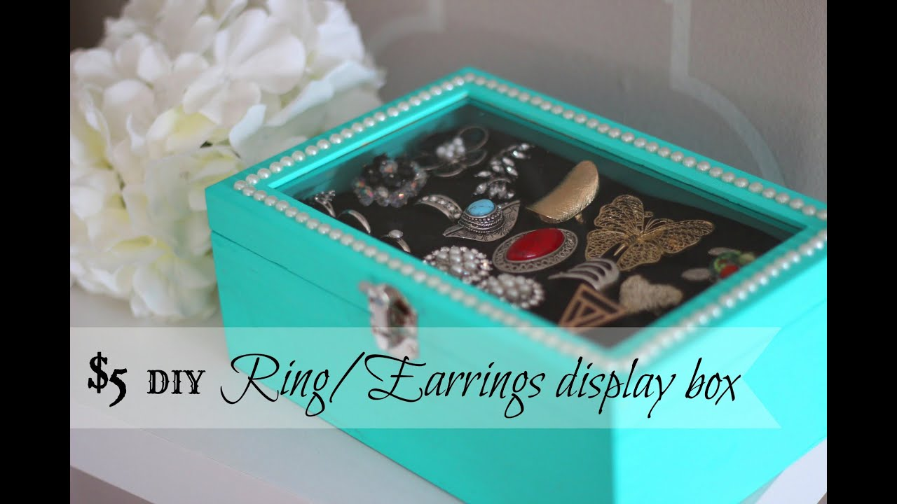 DIY RingsEarrings Display box ONLY 5 Dollar Store craft