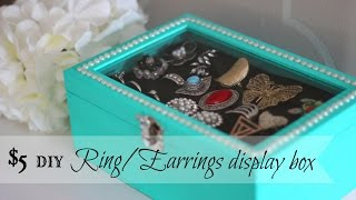 Diy Rings/earrings Display Box - Only $5 !! (dollar Store Craft)