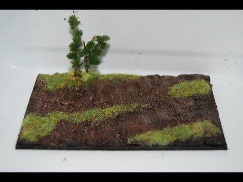 How To Make a Small Diorama Base
