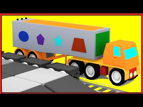 MAGIC SHAPES! - TRUCK Puzzle for Kids! Learn Shapes with Trains, Cartoon Cars & Clever Crane!