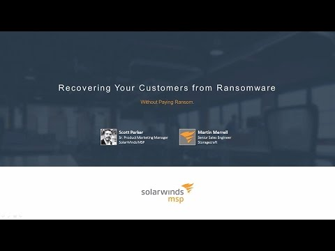 Recovering Your Customers from Ransomware