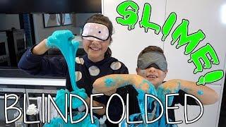 Blindfolded Slime Challenge! | Grace's Room
