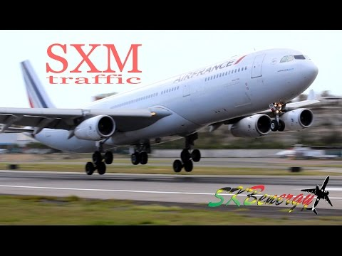 St. Maarten Action !!! A340, MD-82, 737,757,ATR, Twin Otter..@ the Princess Juliana Int'l Airport
