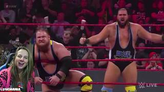 WWE Raw 1/21/19 Heavy Machinery (DEBUT) vs The Ascension