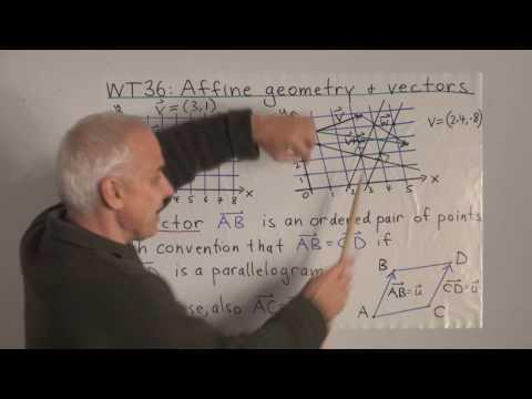 WildTrig36: Affine geometry and vectors