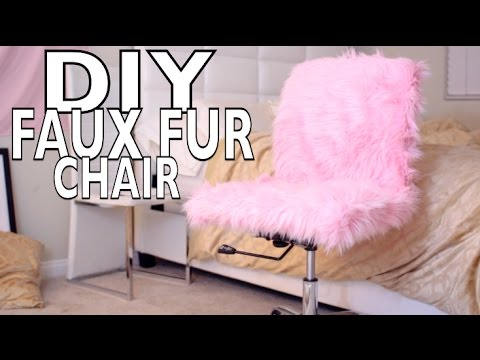 desk chair diy herman miller chairs singapore government faux fur youtube