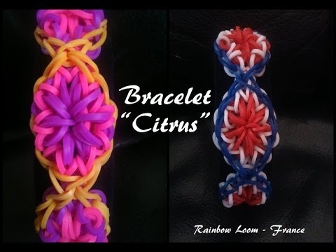 """Bracelet """"Citrus"""" Rainbow Loom® Tutoriel Français (Niveau Intermédaire)"""