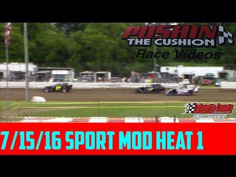 Lafayette County Speedway 7/15/16 Sport Mod Heat 1