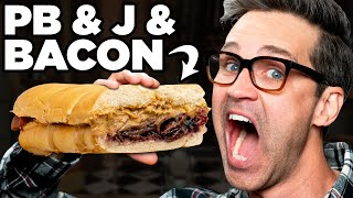 Bacon Peanut Butter and Jelly Sandwich Taste Test