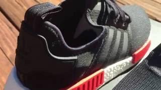 adidas nmd close look on foot