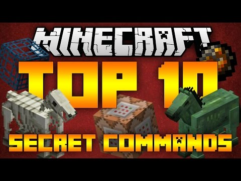 Top 10 Minecraft Secret Commands (Minecraft 1.9.2/1.9) - 2016 [HD]