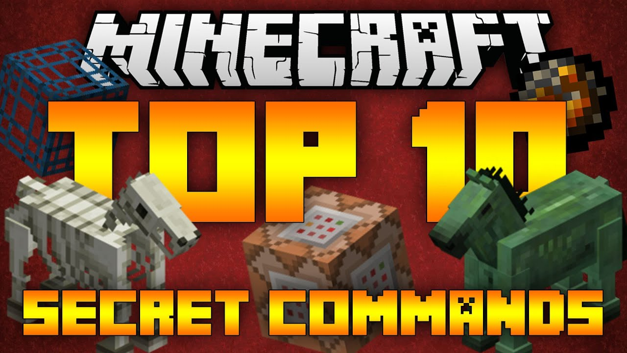 Top 10 Minecraft Secret Commands Minecraft 1 12 1 11 2