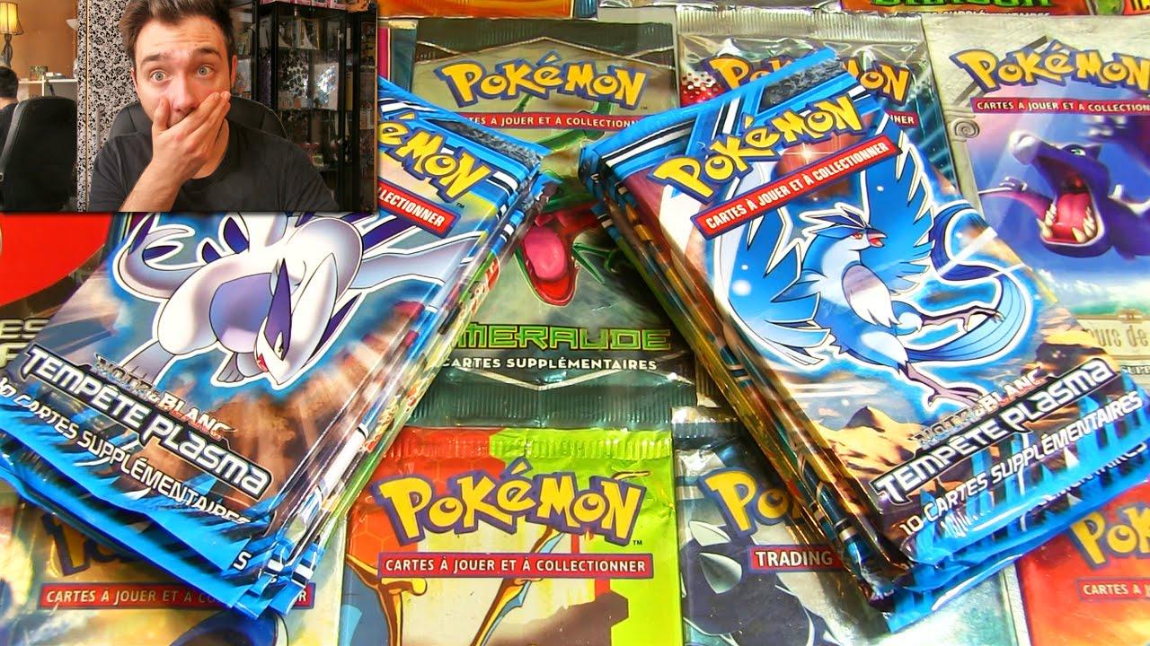 Ouverture de 10 boosters pok mon noir blanc tempete - Pokemon legendaire blanc 2 ...