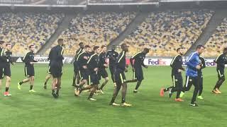 Открытая тренировка «Янг Бойз» на «Олимпийском» перед матчем против «Динамо». Часть 1