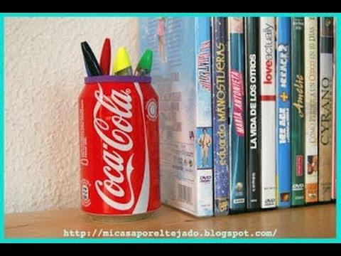 Como transformar una lata en un lapicero youtube - Como hacer un lapicero de madera ...