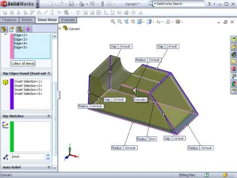 Solidworks 2009 Using Convert To Sheet Metal A Tutorial