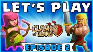Clash of clans/ep2/|showing you my base so far |