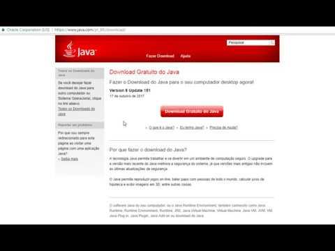 Erro Java 8 151 no Windows 7, 8 e 10 32 e 64 bits
