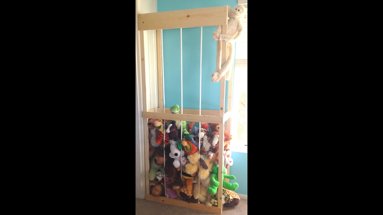 Stuffed Animal Storage Tutorial : We Built The Zoo   YouTube