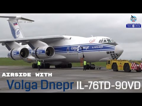 Airside with: Volga Dnepr - IL76-TD-VD @ EGNX