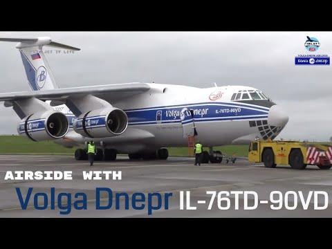 Airside with: Volga Dnepr - IL76-TD-VD @ EGNX