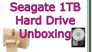 Seagate Barracuda 1TB 7200RPM Hard Drive Unboxing