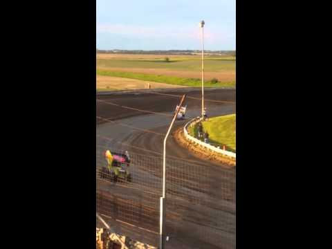 Belleville High Banks, ASCS Sprint Car Heat Race May 2015,