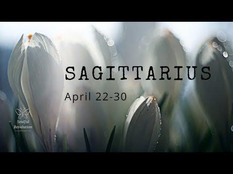 They resist & the Universe shoves 'em, SAGITTARIUS. April 22-30