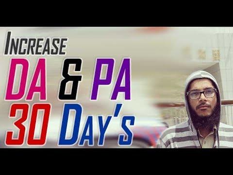 Just Increase DA & PA in 30 Days !!