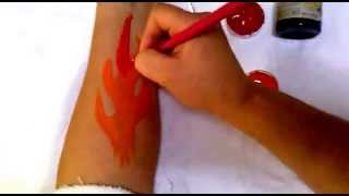 Como pintar fogo ( Fire ) step by step face painting