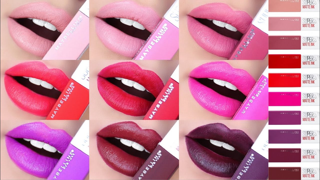 Maybelline Super Stay Matte Ink Liquid Lipstick Swatches Review