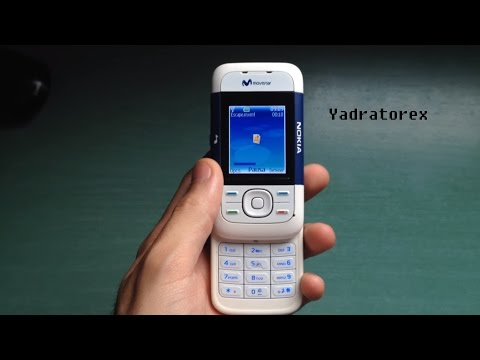 Nokia 5200 Retro Review (ringtones, Themes & Games). Old Phone