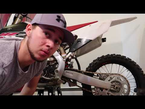 Cleaning Aluminum Frame on Dirtbike