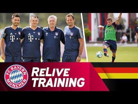 ReLive | Trainingsauftakt beim FC Bayern mit Coach Ancelotti, Müller, Hummels & mehr!