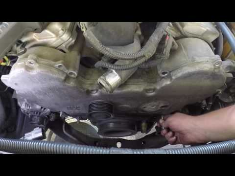 Replacing a Timing Belt and Water Pump on a 2005 Dodge Magnum 3.5L Chrysler 6 cylinder.