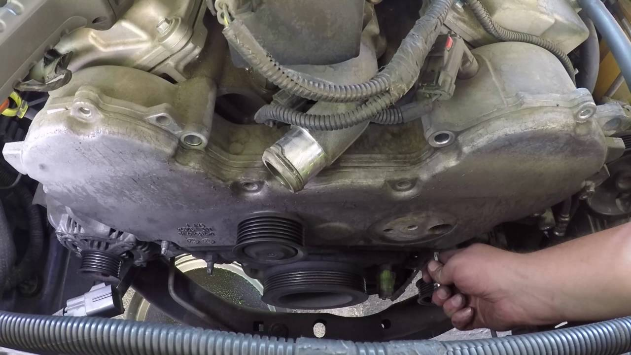 replacing a timing belt and water pump on a 2005 dodge magnum 3 5l rh youtube com 2005 Dodge Magnum Water Pump 2005 Dodge Stratus SXT Engine Diagram