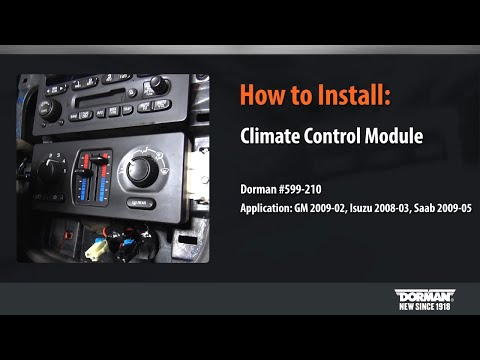 HVAC Control Module Installation By Dorman Products