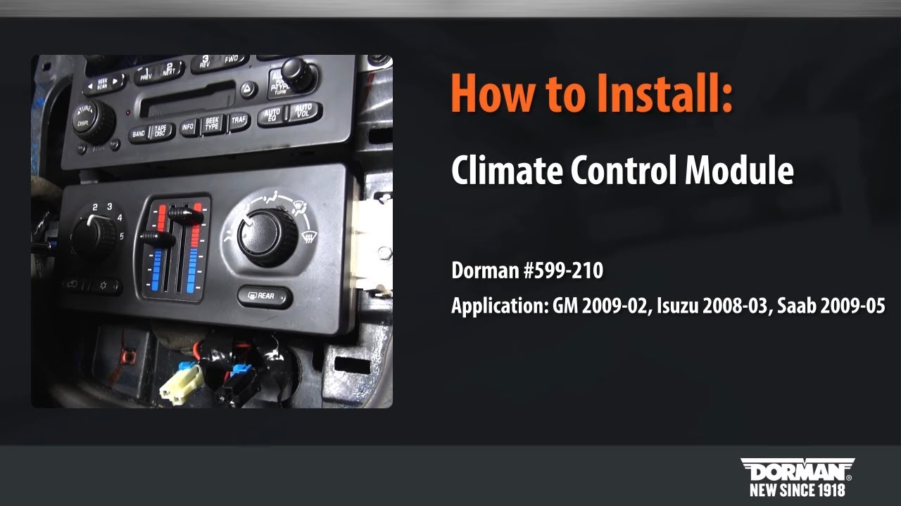 HVAC Control Module Installation by Dorman Products - YouTube