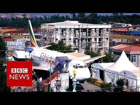 Plane becomes popular cafe - BBC News
