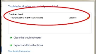 How to fix Your DNS server might be unavailable Error in windows 7/8/10