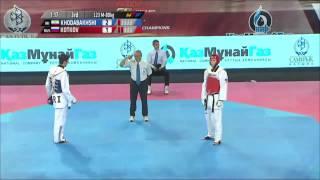 Male  80Kg QUARTER FINAL  Mehdi KHODABAKHSHI IRI v Anton KOTKOV RUS