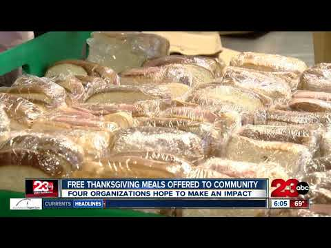 Free Thanksgiving meals offered throughout the day to the community