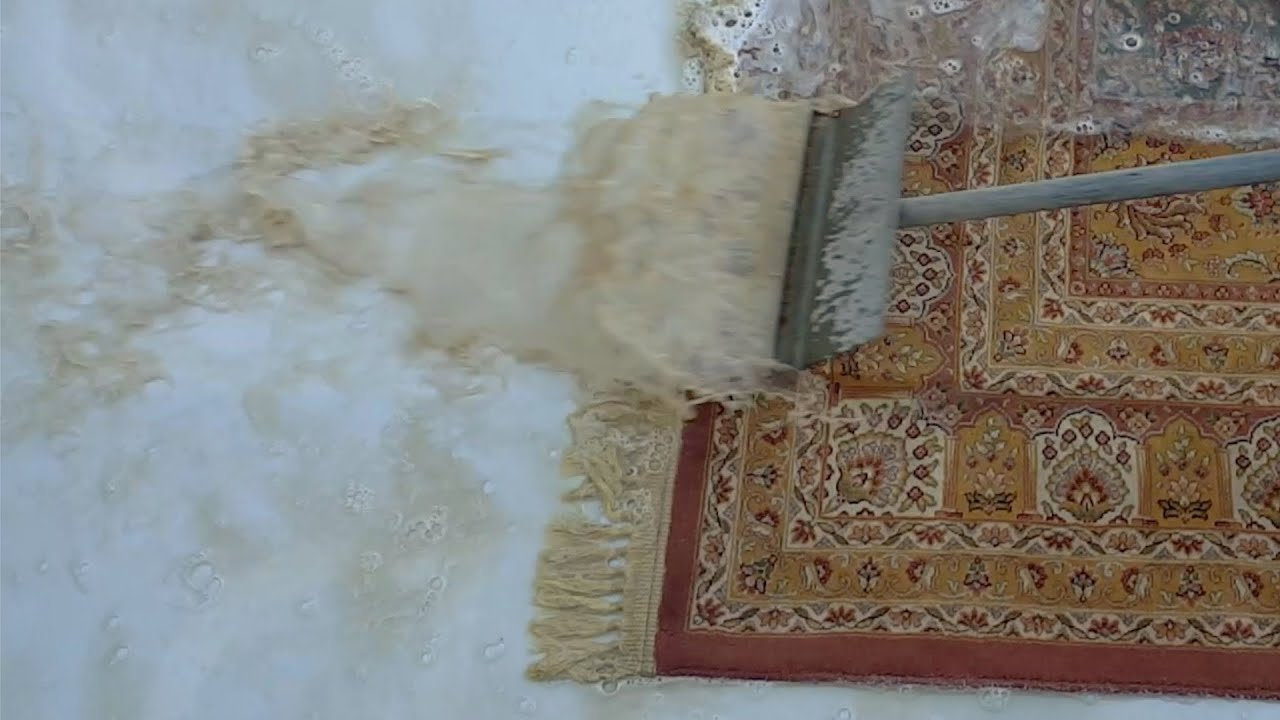 watch this dirty carpet get brand new,became soft&shiny,dirty fringes turned out white&clean,ASMR