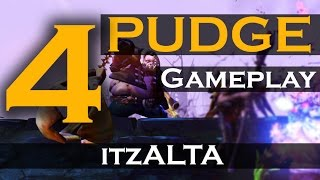 Dota 2 Pudge Gameplay - itzALTA Hook 'em Vol 4